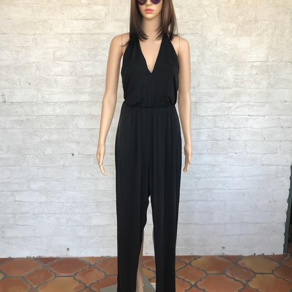 6d410ca2e1b RORY BECA Silky Soft Black Jumpsuit w Tassel Ties